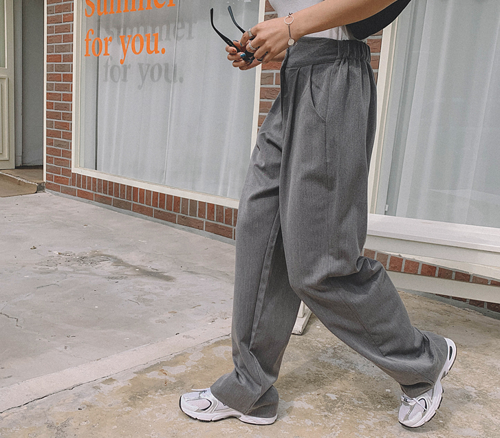 Ropple Banding Wide Slacks