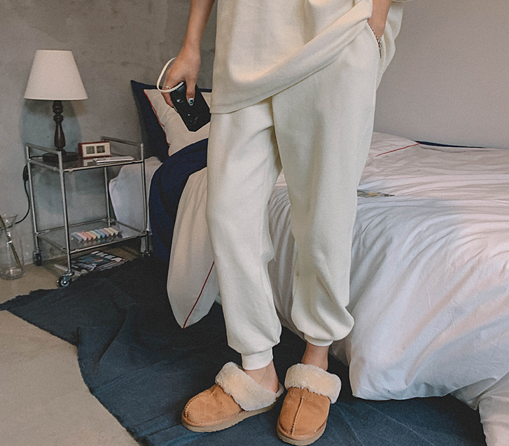 Perhaps Face Brushed Jogger Pants